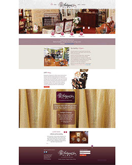 This six page website design was created from scratch to an interesting brief with quite 'flamboyant' requirements & many beautiful antiques