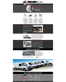 This 33 page website design incorporates separate pages for each type of service, as well as a projects page & a comprehensive safes catalogue.