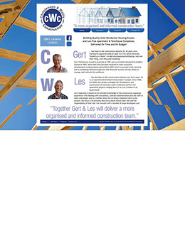 This four page website design was quickly put together to demonstrate and showcase the client's ability in the construction industry.